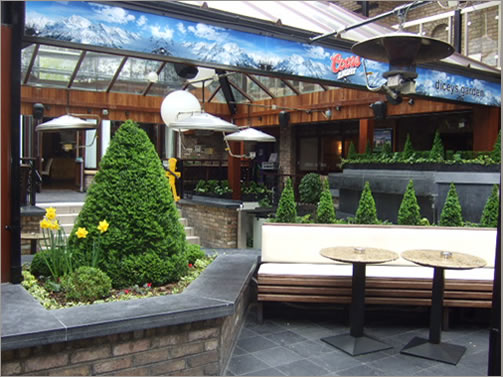 Beer Garden at Russell Court Hotel Dublin Ireland